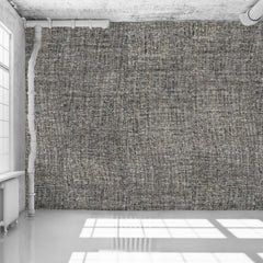 Dark Grey Tricot Wall Wallpaper - WYNIL by NumerArt Wallpaper and Art