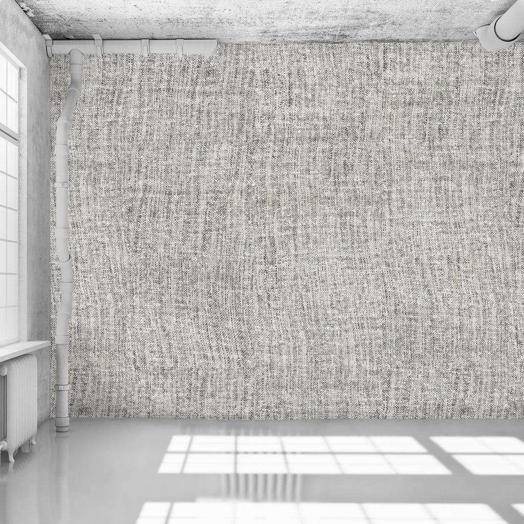 Pale Grey Tricot Wall - WYNIL by NumerArt Wallpaper and Art