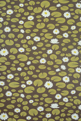 Water Lily Brown Wallpaper