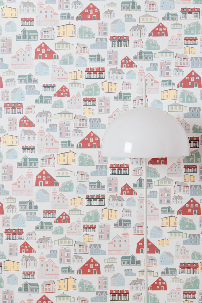 Bonavista Houses Wallpaper - WYNIL by NumerArt Wallpaper and Art