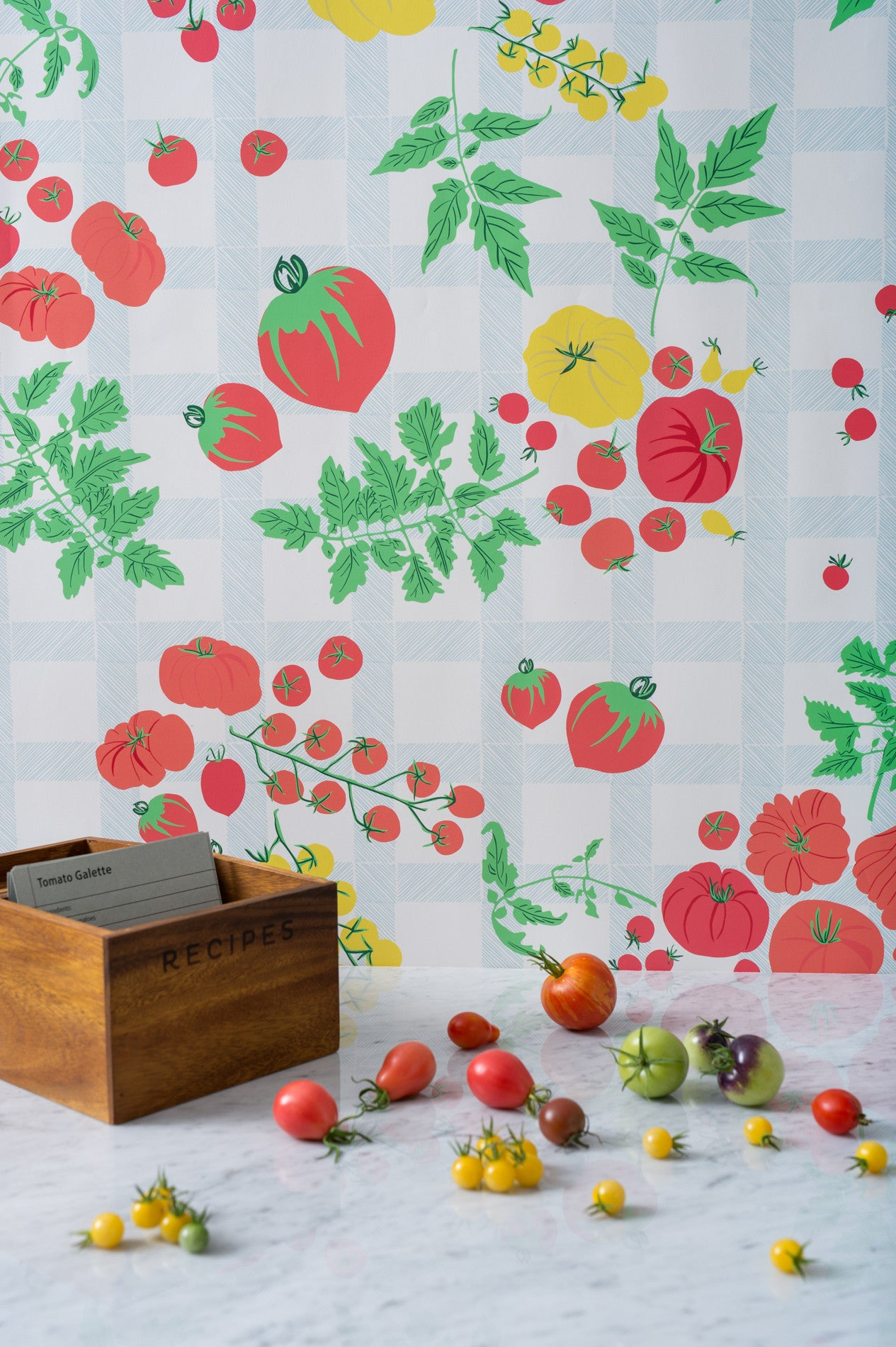 Heirloom Tomato Harvest Wallpaper - WYNIL by NumerArt Wallpaper and Art
