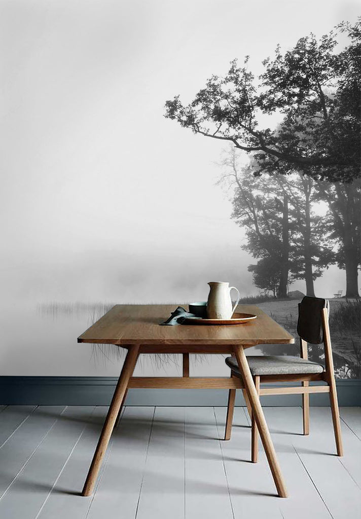 Morning Mist Mural - WYNIL by NumerArt Wallpaper and Art