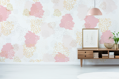 Ciapki Pink & Yellow Wallpaper