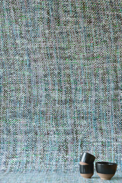 Blue Tricot Wall Wallpaper