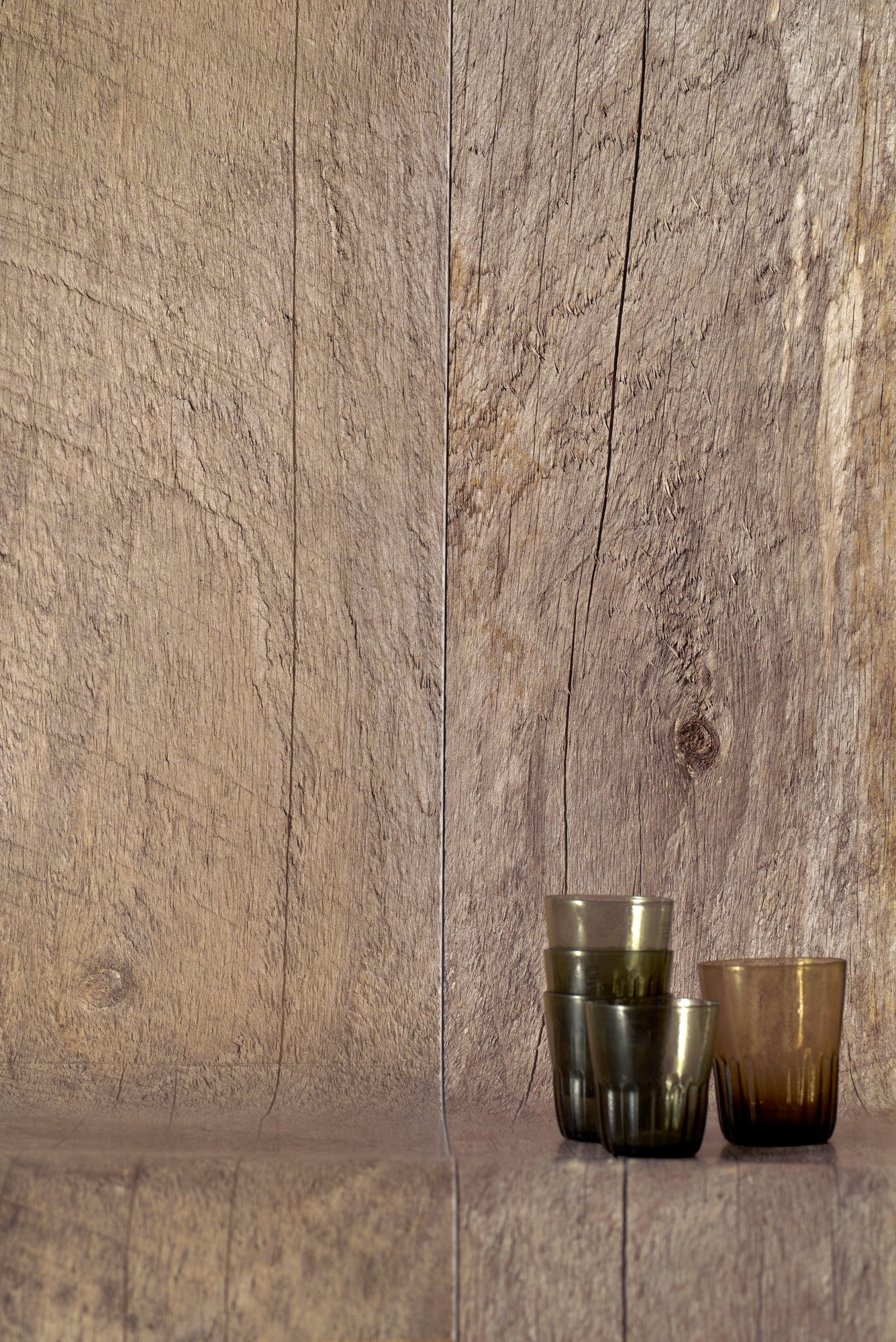 Barn Wood Natural Wallpaper