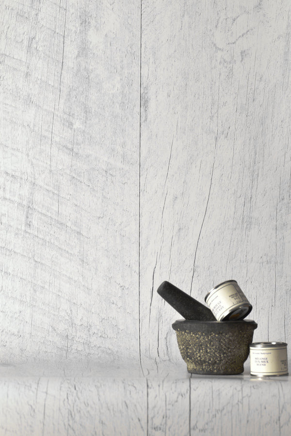 Barn Wood White Wallpaper - WYNIL by NumerArt Wallpaper and Art