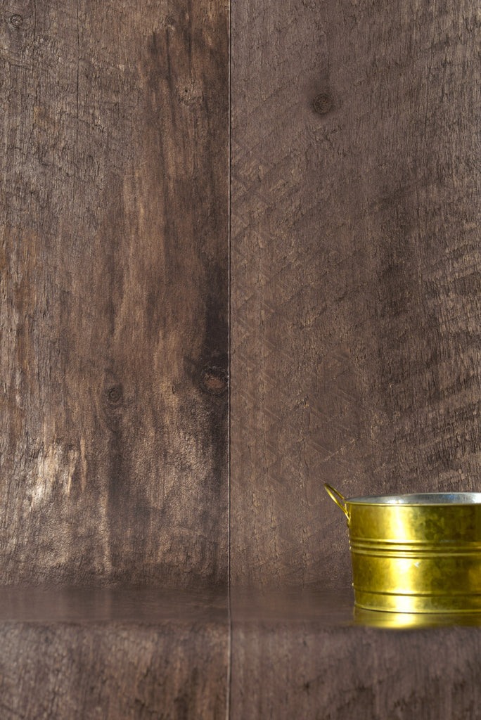 Barn Wood Brown Wallpaper - WYNIL by NumerArt Wallpaper and Art