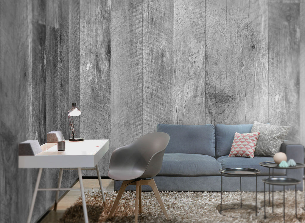 Barn Wood Gray Wallpaper - WYNIL by NumerArt Wallpaper and Art