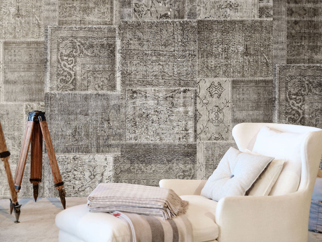 Patchwork Neutral Wallpaper