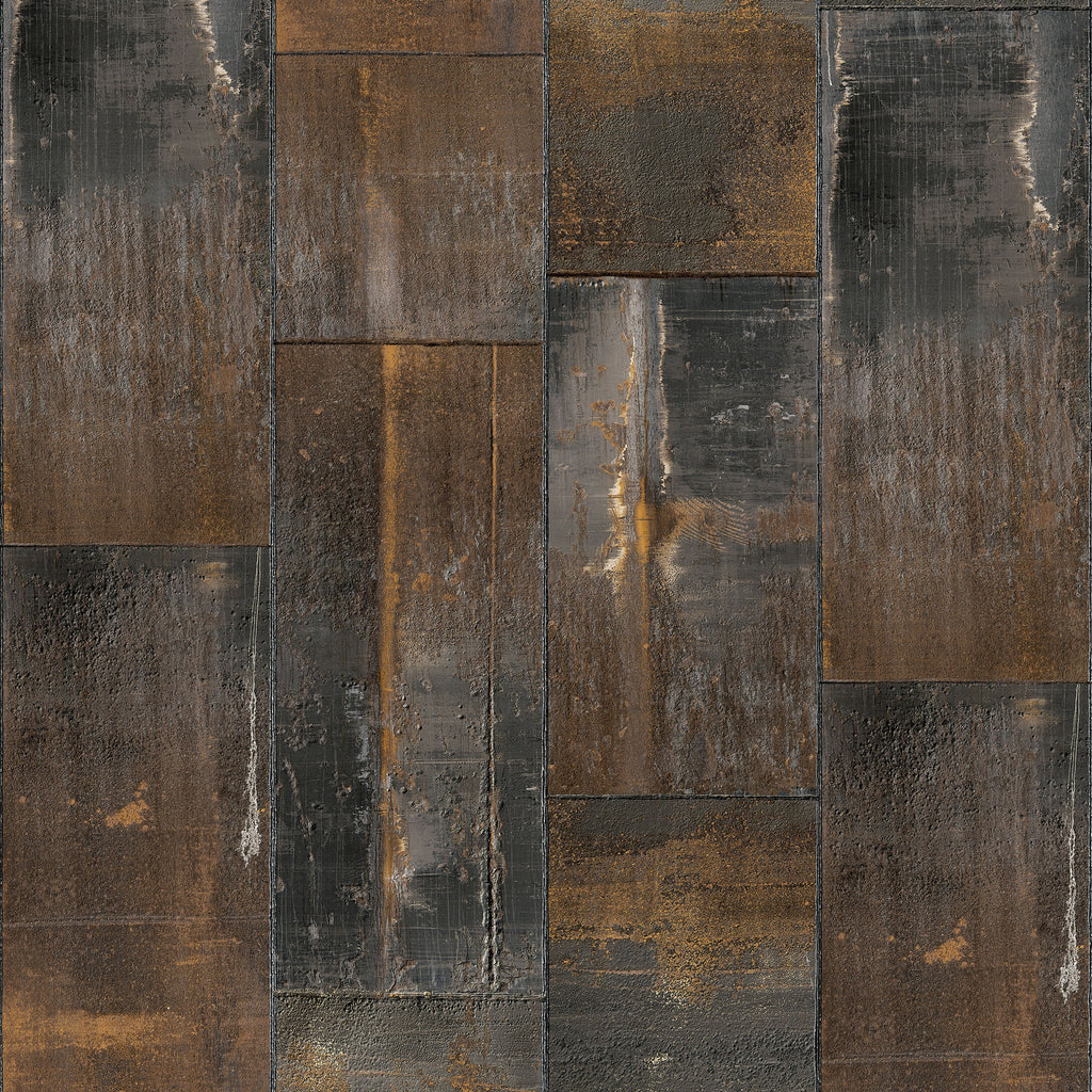 Metal oxidation natural wallpaper wynil by num rart - American tin tiles wallpaper ...