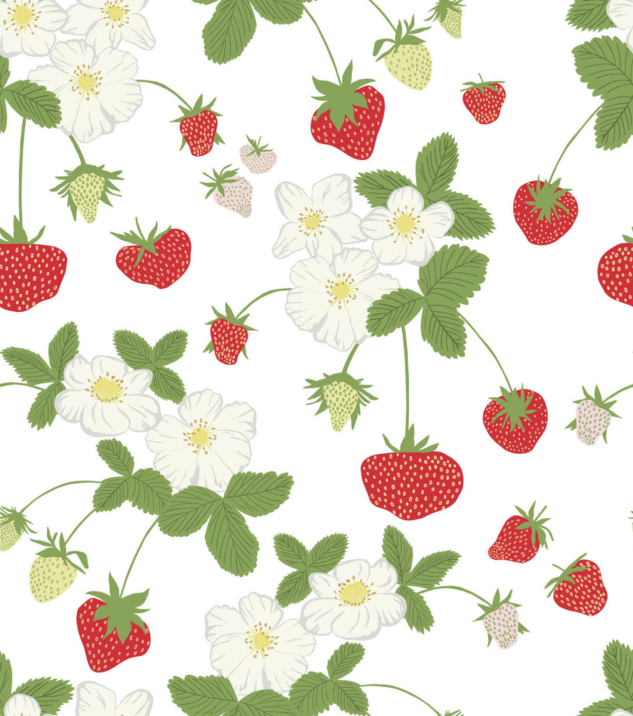 Strawberry Social Wallpaper