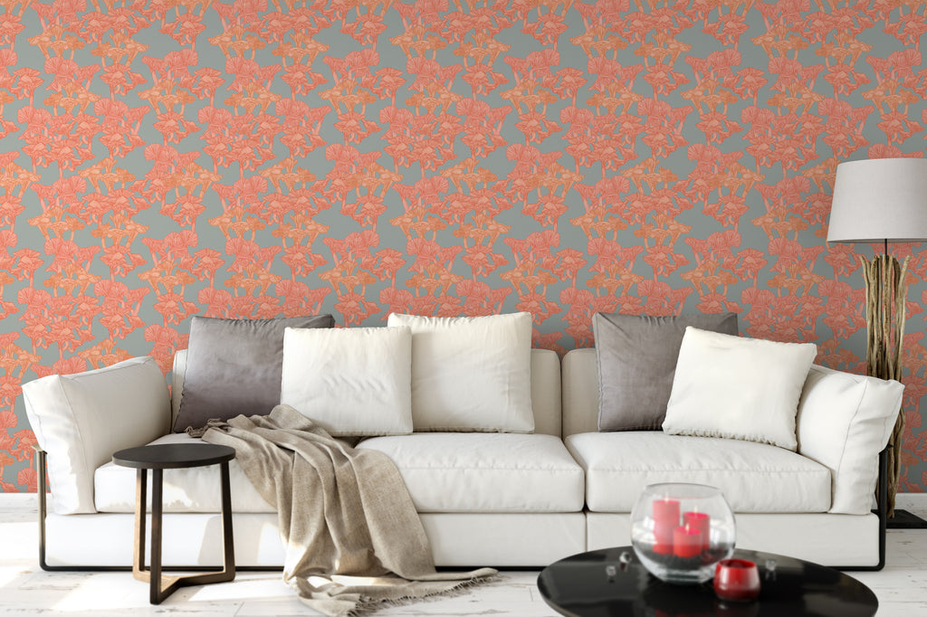 Chanterelle Bright Wallpaper - WYNIL by NumerArt Wallpaper and Art