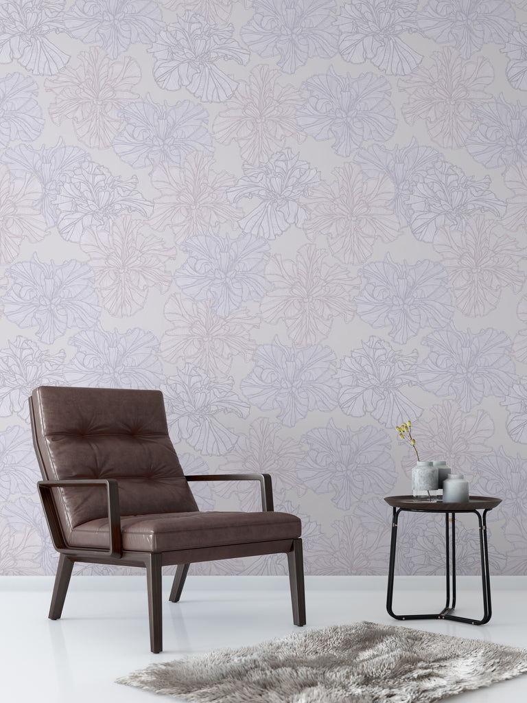 Louisiana Iris Tranquil Wallpaper - WYNIL by NumerArt Wallpaper and Art