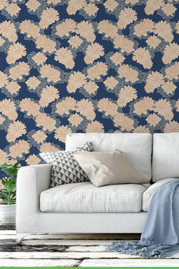 Plena Golden Wallpaper - WYNIL by NumerArt Wallpaper and Art