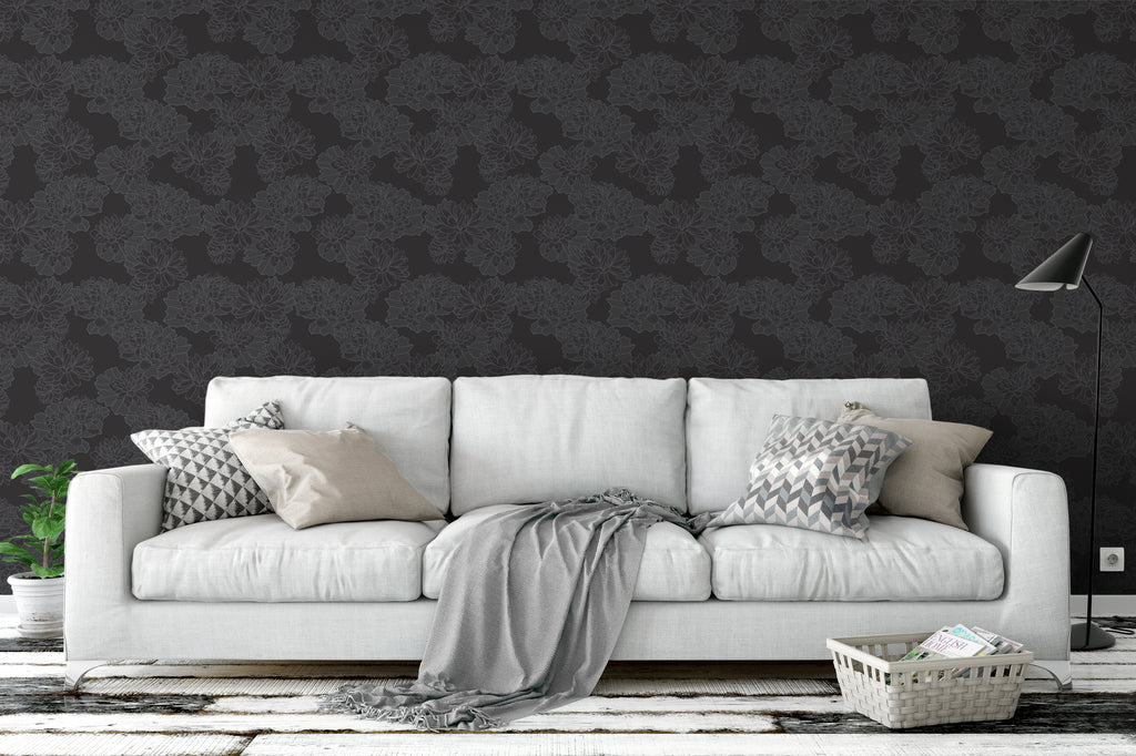 Plena Monochrome Wallpaper - WYNIL by NumerArt Wallpaper and Art
