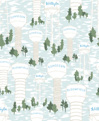 Water Tower Wallpaper - WYNIL by NumerArt Wallpaper and Art