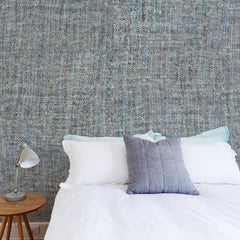 Blue Tricot Wall Wallpaper - WYNIL by NumerArt Wallpaper and Art