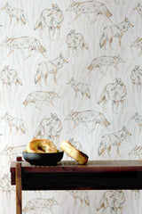 Coyote Putty Wallpaper - WYNIL by NumerArt Wallpaper and Art