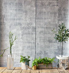 Concrete Smooth Wallpaper - WYNIL by NumerArt Wallpaper and Art