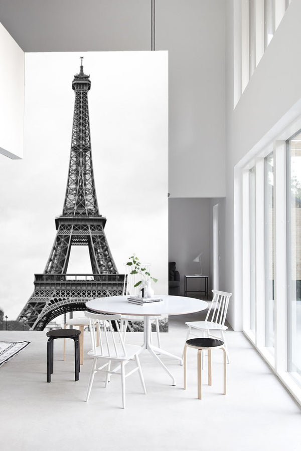 The White Tour Eiffel Mural - WYNIL by NumerArt Wallpaper and Art
