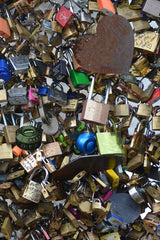 The Love Paris Padlocks Natural Mural - WYNIL by NumerArt Wallpaper and Art