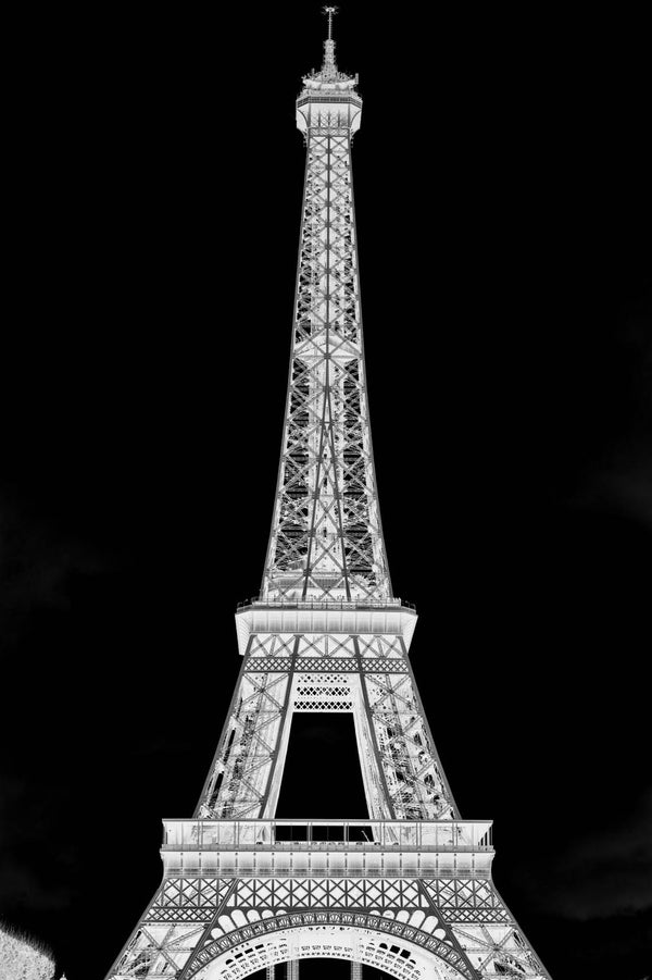 The Black Tour Eiffel Mural - WYNIL by NumerArt Wallpaper and Art