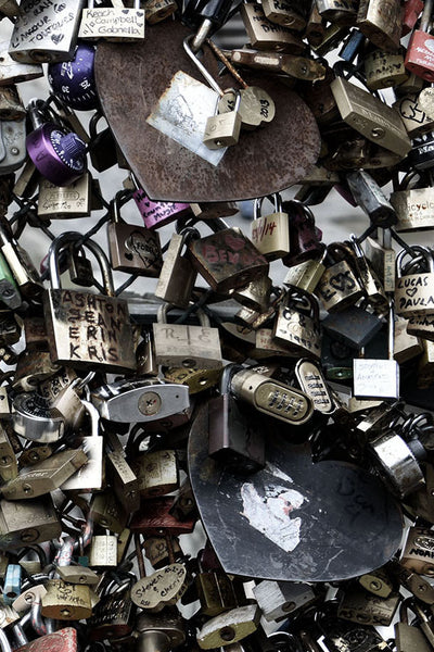 The Love Paris Padlocks Bleach Mural - WYNIL by NumerArt Wallpaper and Art