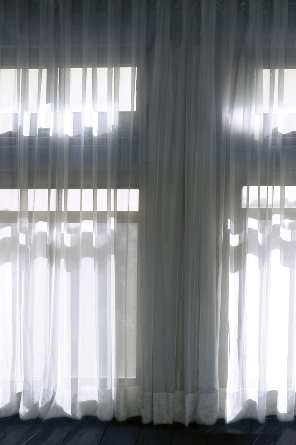 White Curtain Trompe l'Oeil Mural - WYNIL by NumerArt Wallpaper and Art