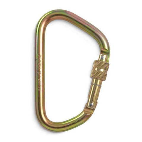 Omega Pacific X-Large Steel D Carabiner - RescueGear.com  - 1
