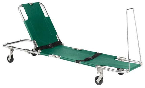 Junkin Easy-Fold 4 Wheeled Stretcher with Adjustable Back Rest