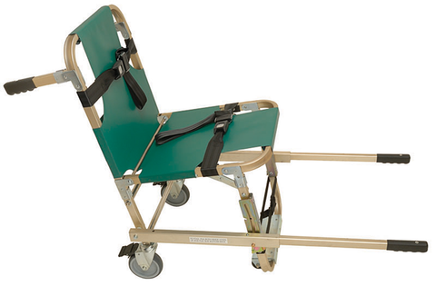 Junkin Evacuation Chair with Extended Handles & Four Wheels