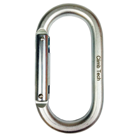 ClimbTech Steel Oval Non-Locking Carabiner