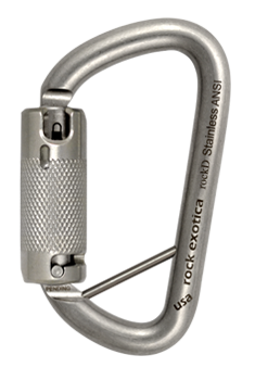 Rock Exotica RockD Stainless Lanyard-Pin Carabiner - RescueGear.com