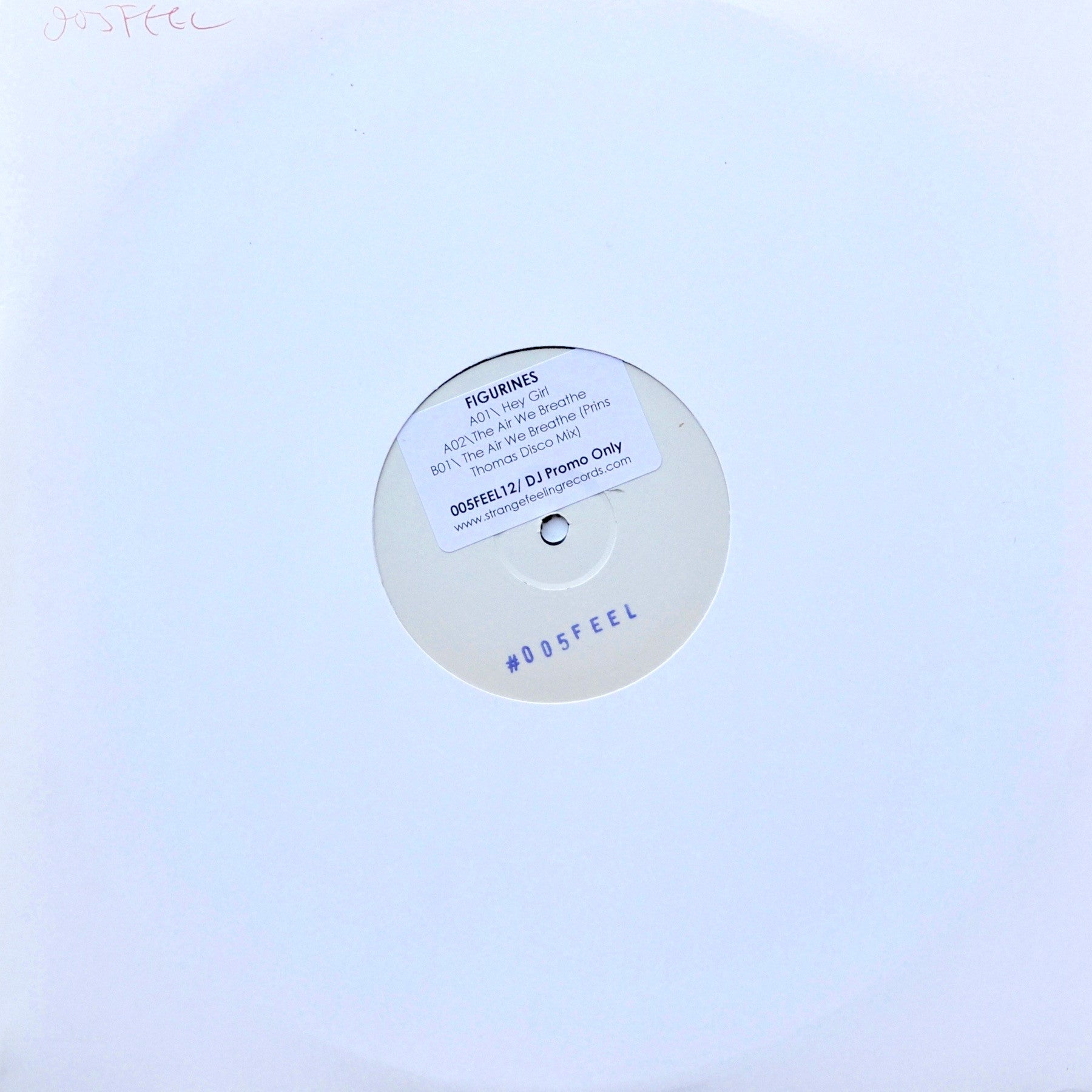 "Figurines - Hey, Girl EP (12"" Vinyl, inc Prins Thomas remix of The Air We Breathe) (Test Pressing)"