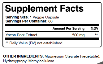 Yacon Root Extract Ingredients