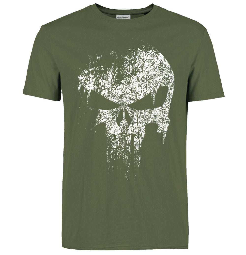 Punisher T Shirt Army Green