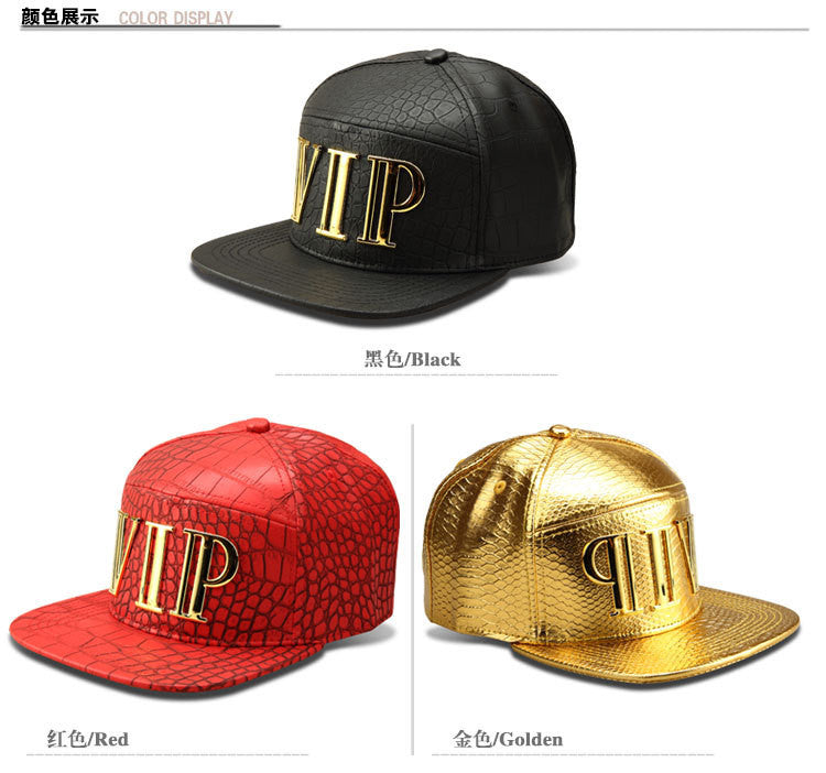 Badass 5 Panel Hat - Quality snakeskin Leather Luxury metal buckle Exclusive Hand Made Black & Gold