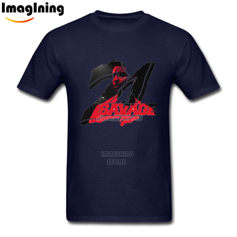 21 Savage T Shirt Navy