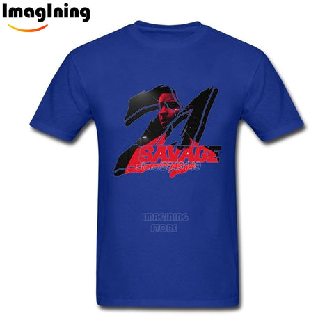 21 Savage T Shirt Blue