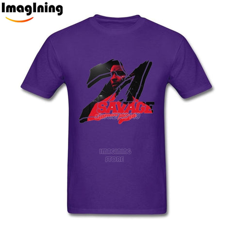 21 Savage T Shirt Purple