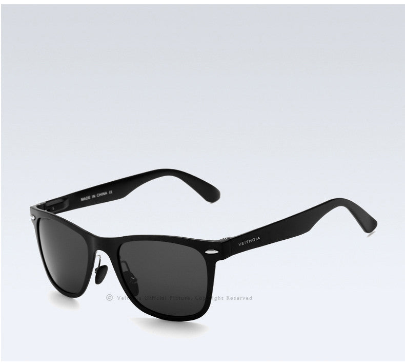 VEITHDIA Brand Aluminum Square Men's Polarized Mirror Sun Glasses VT2140