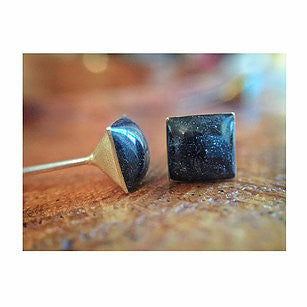 Specularite Square Earrings