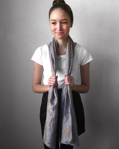 Fine Silk Speckled Flako Scarf