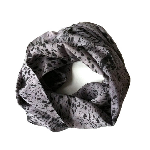 Fine Silk Speckled Infinity Scarf