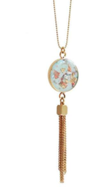Resin Gold Plated Ball Chain