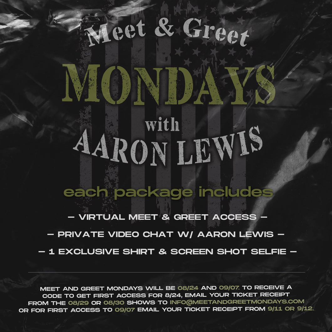 08/31/20 - 7 PM EST - Meet and Greet Mondays with AFL Virtual Meet and Greet Package