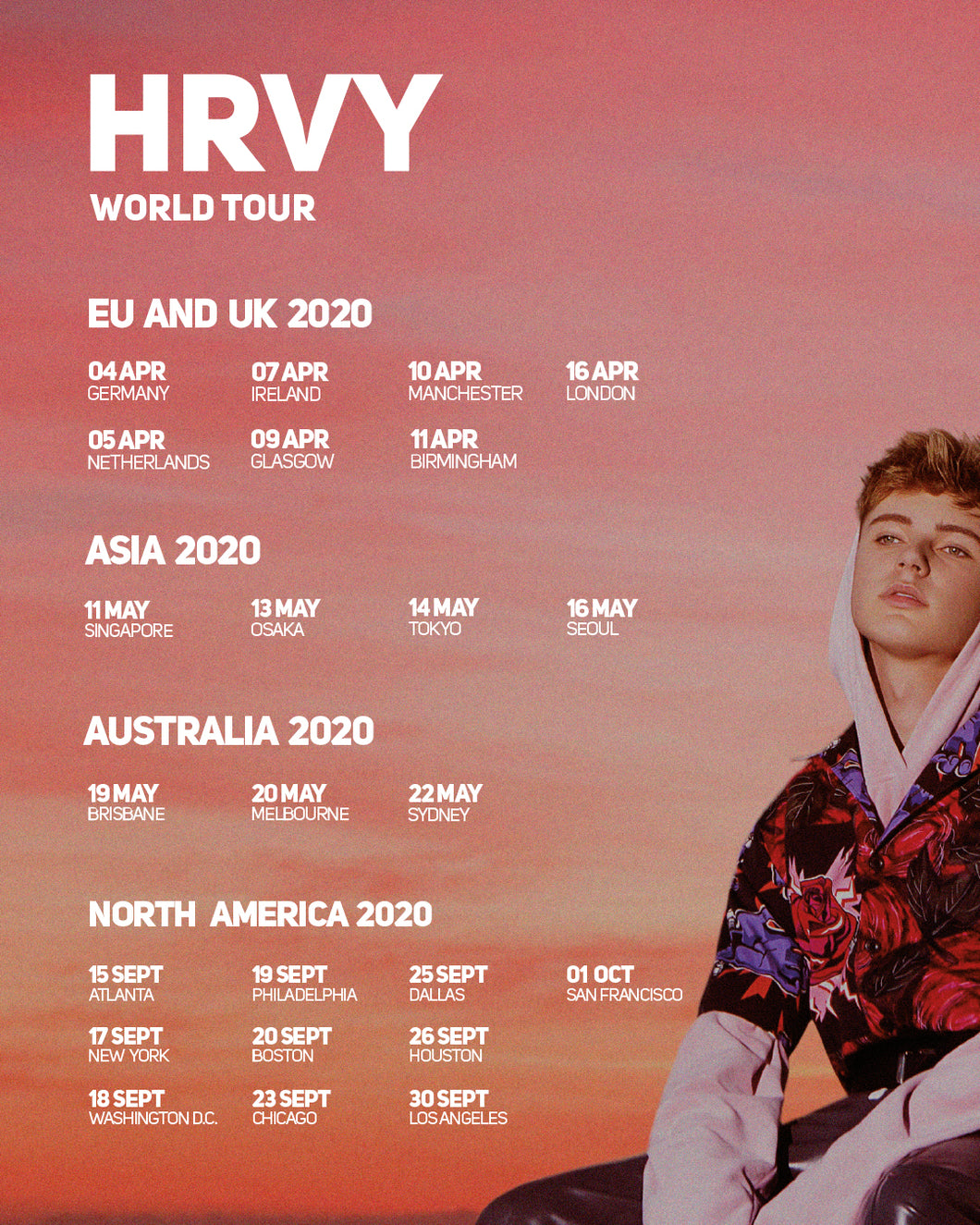 05/20/20 - Melbourne, Australia - 170 Russell Hotel - HRVY Ticketless Meet & Greet Upgrade Package