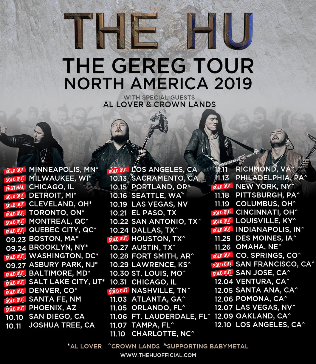 11/02/19 - Nashville, TN - The Exit In - The HU Meet & Greet Upgrade Package