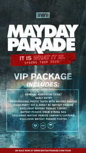04/26/20 - Winnipeg, MB - Garrick Center - Mayday Parade - Ticketless VIP Package