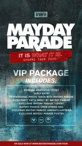 09/16/20 - Charleston, WV - Rock City Cake Company - Mayday Parade - Ticketless VIP Package